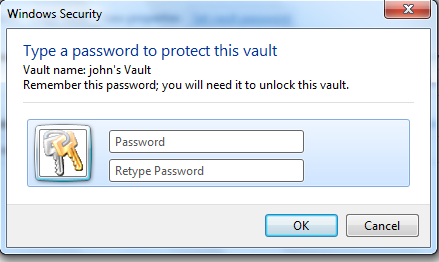 Password Algorithms: Internet Explorer 10 (Windows Vault